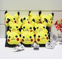 Wholesale 2016 Poke Plush keychain Pikachu Plush Keychain Pendants Stuffed Plush Toy With Ring cm