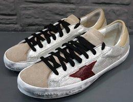 Wholesale New Golden Goose GGDB New York Sneaker Worn Men Women Low Cut Shoes Sneakers size