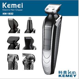 Promotion rasoirs rechargeables imperméables pour les hommes Vente en gros coupe-bordures imperméable électrique KM-1832 5-IN-1 multifonction électrique tondeuse coupe-cheveux rechargeable rasoir rasoir