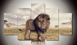 Framed art Printed Animals Lion Group Painting children's room decor print poster picture canvas Free shipping F 373
