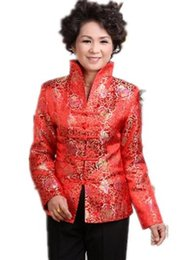 Wholesale Chinese Style Jackets Women - Wholesale-Free Shipping new arrival Satin Silk Chinese Women's Purple Embroider Jacket Coat Flowers chinese style coat Plus Size 2288