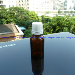 15ml brown amber Glass Essential Oil Bottle With white plastic burglarproof cap. Oil vial, Essential Oil Container