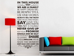 Wholesale VC8084 cm House rule keep calm and carry on Wall Quote Decal Decor Sticker Lettering Saying Wall Art Stickers Decals