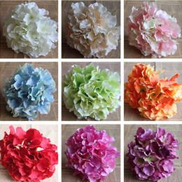 "Silk Hydrangea Flower Head Dia. 16cm 6.3"" 48Pcs lot Artificial Flowers European Hydrangeas for DIY Wedding Bridal Bouquet Wrist Corsage"