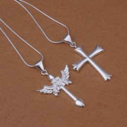 High grade 925 sterling silver Cross Necklace Pendant Set - Men jewelry sets DFMSS369 brand new Factory direct sale 925 silver necklace