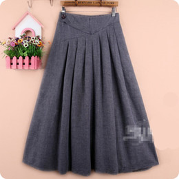 Free Shipping New Skirt Women 2015 Long Maxi Cotton Summer Fashion Linen Plus Size Elastic Waist A Line Pleated Skirt For Ladies women