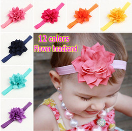 Baby Girl Headband Newborn Headbands Shabby Chic Flower Hairband Lace Headband Hair Accessories
