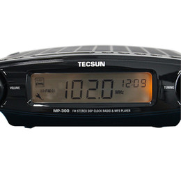 Wholesale TECSUN MP FM Stereo DSP Radio USB MP3 Player Desktop Clock ATS Alarm Y4137A