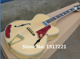 Wholesale Factory Customized Hot Sale Semi hollow Electric Guitar with Orginal Body and Gold Hardware and Can be Changed