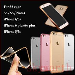 Ultra Slim Plating Transparent tpu soft Clear Case For iPhone 8 X 7 6S Plus Samsung Note8 S8 Plus S6 S7 Edge Plus