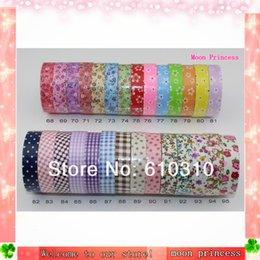 Livraison de fleurs en tissu bricolage coréenne sans gros de bande décorative de tissu de coton washi Japon ruban de papier de papeterie adhansive ruban adhésif à partir de washi bande de tissu fabricateur