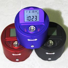 Wholesale mini lcd display bluetooth speaker with TF USB FM handsfree mini bluetooth speaker with alarm clock calander