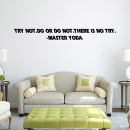 Wholesale quot TRY NOT DO OR DO NOT quot Retail Home Garden Wall Decor Sticker Decoration Vinyl Removeable Art Mural Bedroom Living Room Sticker QT017