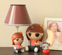 Exclusive original baby girl cute little lamps bedside lamps pastoral style table lamp desk lamp dimmable wild