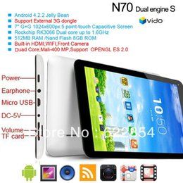 Wholesale original NEW inch Android tablet pc Vido N70S RK3026 Dual Core GHz MB RAM GB ROM Webcam WIFI