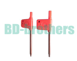 T6 T7 T8 T9 T10 T15 T20 Torx Screwdriver Spanner Key Small Red Flag Screw Drivers Tools 200pcs lot
