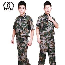 Nouveau manches courtes entraînement d'été uniforme tenue de camouflage hommes / paquet de sport de plein air assurance qualité commune traite des femmes à partir de offres sportives fournisseurs