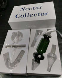 Wholesale 2016 Different models Nectar Collector Kit With Honey Straw Mouthpiece Stem Titanium glass Nail mm mm bong glass pipe For Smoking
