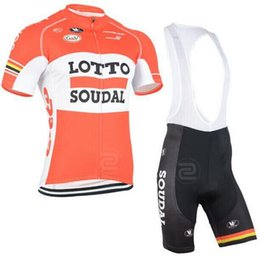 2015 team lotto soudal pro cycling jerseys short-sleeve summer Quick-Dry Racing Bicycle ropa ciclismo cycling clothing bib pant