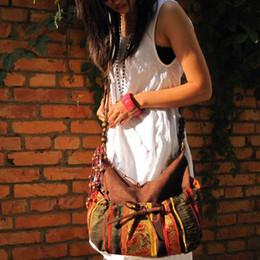 Wholesale Strap Bags For Men - Wholesale-Trendy Leather Boho Tassels Bag Bohemian Style Bags Cross Body Long Strap Suede Bohemian Bags Ethnic Art Handbags Bags For Women