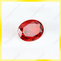 beauty orange color oval shape 6*8mm zircon bead 100 pieces