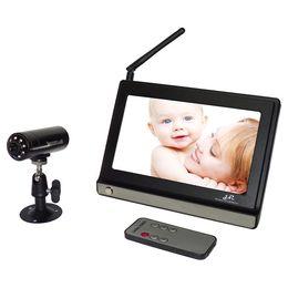 Vidéotransmission en Ligne-2.4 moniteur sans fil G 7 pouces moniteur pour bébé sans fil audio et la fréquence de transmission vidéo commutateur maximale de tour à quatre roues