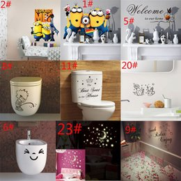 Mixed Wholesale Kitchen bathroom toilet Room Car Wall stickers Wall Decal Removable Art Home Mural decal Free Shipping