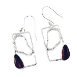 Dangle opal earrings queen of gems opal pure sterling silver Jewelry for Women handmade fancy earrings for E963