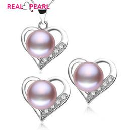 925 ensembles de mariée à vendre-Vente en gros-REAL PEARL 925 bijoux en argent sterling perle ensemble nuptiale bijoux de mariage ensemble 4 boucles d'oreilles en cristal de couleur ensemble avec perle de culture
