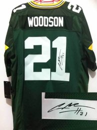 Wholesale Signed Woodson Football Jerseys Green Football Apparel Authentic Football Uniform Hot Sale Football Uniform Signature Football Jerseys