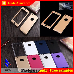 Wholesale 360 degree hard full cover phone case with tempered glass for iPhone iphone plus quot with retail box