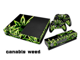 Wholesale 1 Set Canabis Weed Xbox One Skin Stickers Vinyl Protector Decals Wrap For xbox one Console and Controllers