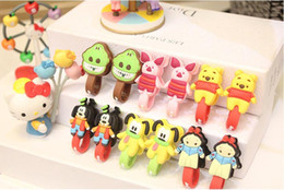 Wholesale 2015 Silicone TPU Cute rubber cartoon headphone cable bobbin winder cord winder cable holder Mp3 MP4 Smartphone smaller size option