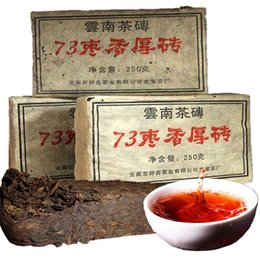 Wholesale 73 jujube flavor brick tea Pu Er Puerh Pu er Pu erh Pu er cooked Puer Tea Brick Ripe Thick Brick Lose Weight Tea
