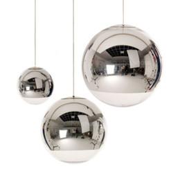 Wholesale Modern Tom Dixon Mirror Glass Ball Pendant Lights Restaurant Chrome Globle Pendant Lamps Kitchen Hanging Light Fixture Luminaira