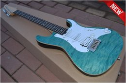 Wholesale New Custom Blue maple wood veneer suhr High Quality wilkinson tremolo Electric Guitar