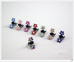 Wholesale Plum blossom Rhinestone Metal Hair pins