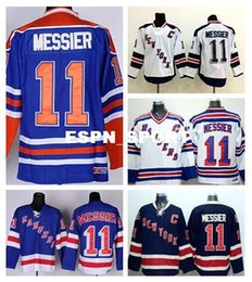Wholesale Factory Outlet New York Rangers Mark Messier Jersey Throwback CCM Vintage Retro Stadium Series Messier Rangers Jerseys Ice Hockey Blue W