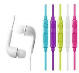 Colorful In-Ear Stereo Earphone Headphones Headset with Mic and Remote Volume Control for Samsung Galaxy S4 S5 note 4 Iphone HTC LG