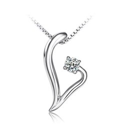 Sterling silver necklace simple and stylish Love Dream Pendant S925 Silver Necklace Korean women jewelry items Valentine's Day to send his g
