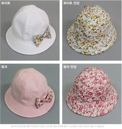 Wholesale 2015 HOT newborn caps sweet printing infant princess hats korean style baby girls bucket hat two sides can wear age ab1253