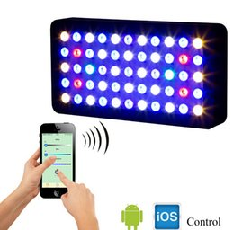 Wholesale 20 dhl free W led Aquarium light wifi control led aquarium light for coral reef