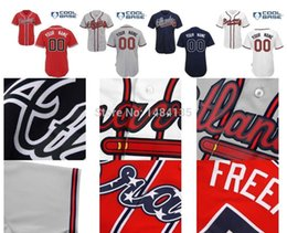 Wholesale 30 Teams Custom Hi Q Men s Baseball Jerseys Atlanta Braves jerseys customized Personalized Your Name and Number Best Price