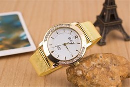 Europe and the United States sell quartz Swiss alloy watch men and women Double row drills the net watch