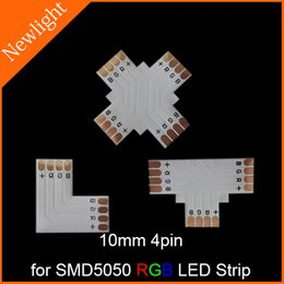 Wholesale L T X Shape LED Strip Connector FPC Connection Board mm pin for connecting SMD flexible RGB LED Strip Light