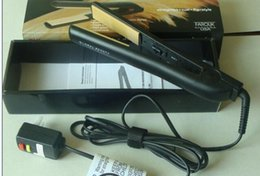 Wholesale Best seller Classical BLACK Hairstyling Flat Iron with Retail Box hair straightener Free CHI DHL shipping