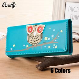 Wholesale New Arrival Cute Carton Owl Women Wallet Short and Long Pattern Women Purse Women Card Holder Zipper Design Brand Coin Purse
