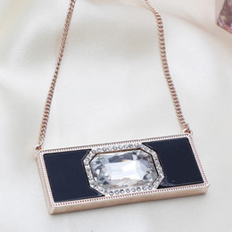 Wholesale 2015 Promotion Sale Garden Mueble De Exterior Outdoor Patio Furniture Big Exaggeration Rectangular Diamond Necklace Fashion Jewelry Selling