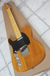Wholesale New arrival left handed Tr electric guitar in wooden natural 150516