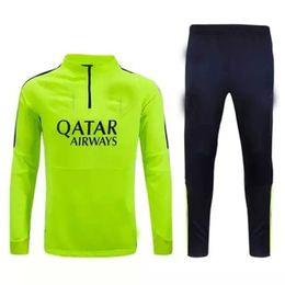 Wholesale 2016 soccer Kit Uniform jersey Barcelona football Tracksuit Green Blue and Black Color Track suit maillot de foot